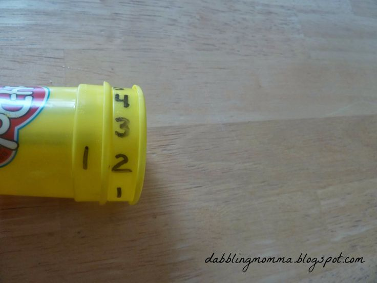 Re-use Play Doh Containers to work on double-digit numbers | Dabbling Momma