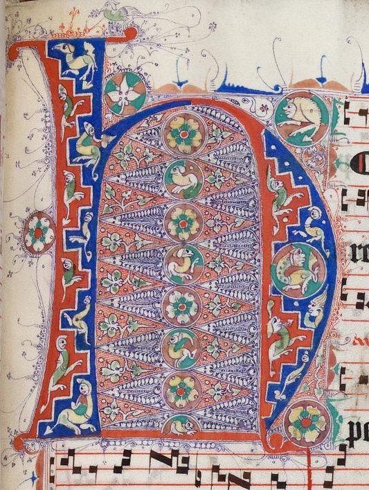 Titel:Hymnarium cisterciense   Sammelhandschrift - Lichtenthal 141 Erschienen Oberrhein, [1. Hälfte des 14. Jh.] Online-Ausg.Karlsruhe : Badische Landesbibliothek, 2013 Umfang193 Bl. ; 41,5 x 30,5 cm