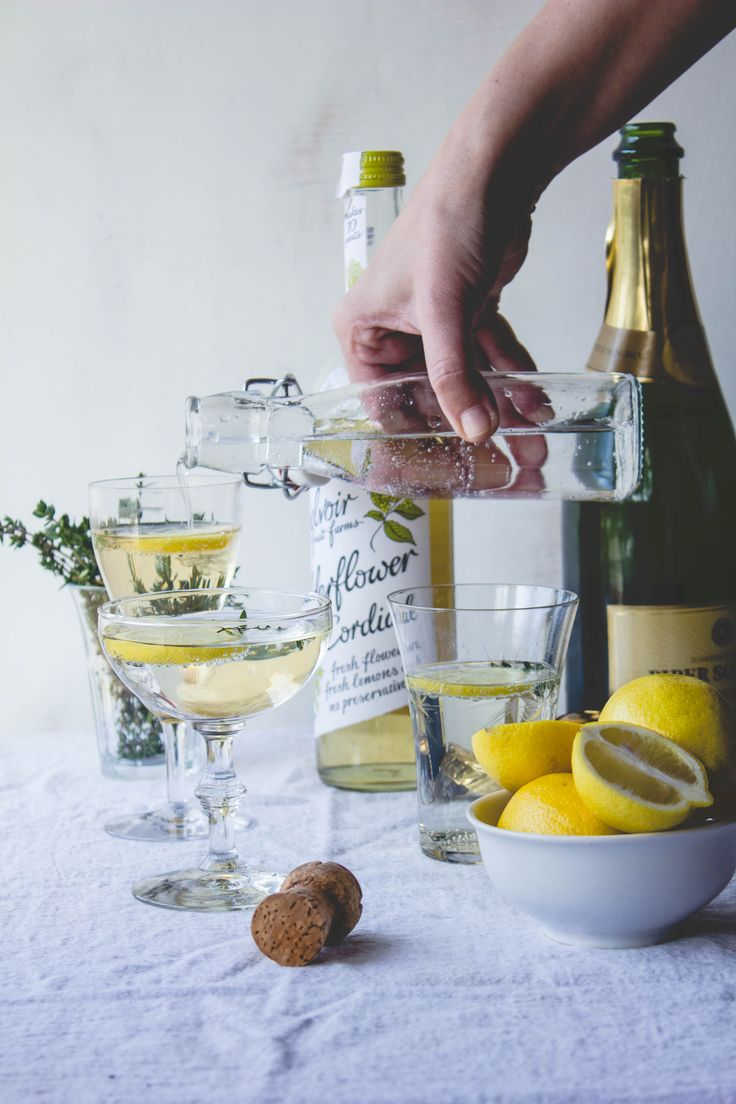 Elderflower and Thyme Cocktail