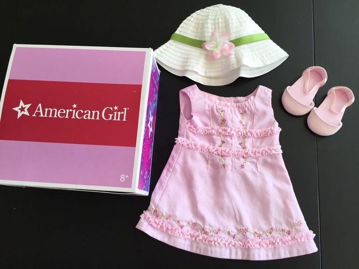 Retired American Girl Doll Petal Pink Dress Outfit MYAG Dress Shoes W/box 2010 #AmericanGirl #ClothingShoes