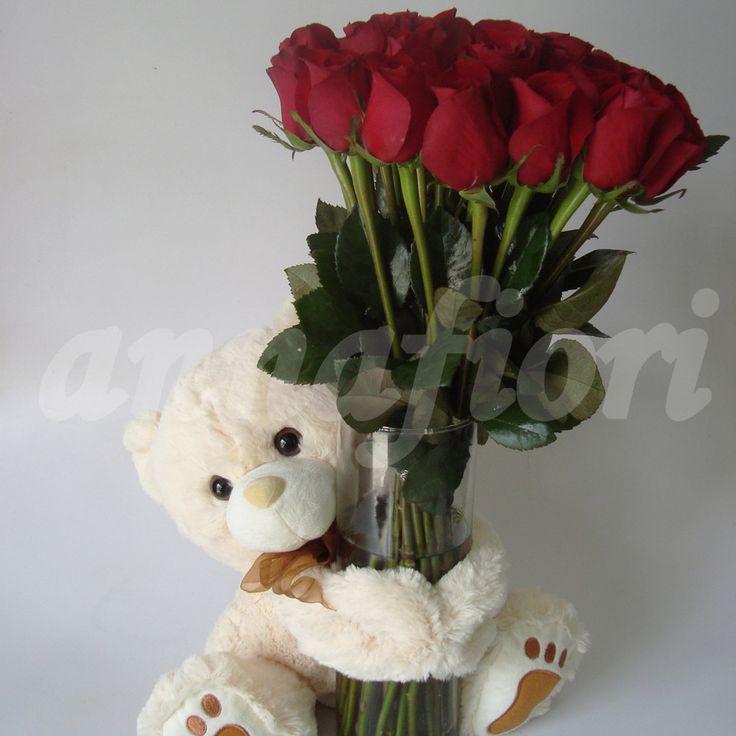 Arreglo Florale Rosas Rojas   Envio de arreglos florales en el df