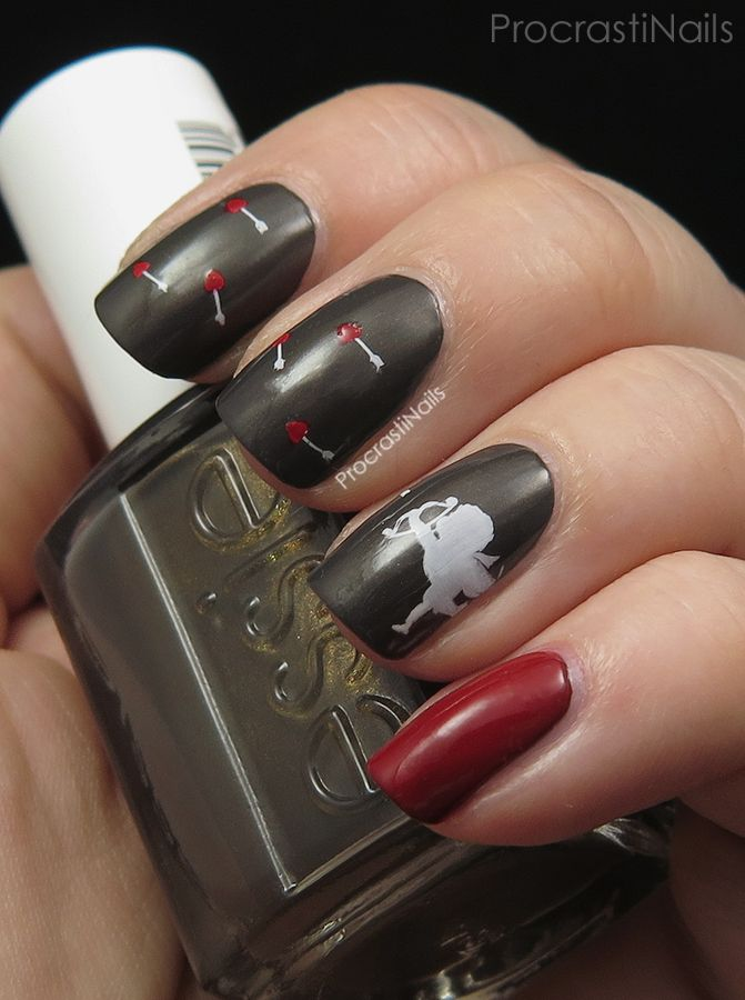 276 best challenge your nail art images on pinterest challenge procrastinails love is in the air nail art challenge cupid stamping with bundle monster prinsesfo Choice Image