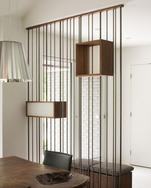 cool room divider idea for your bedroom or living room