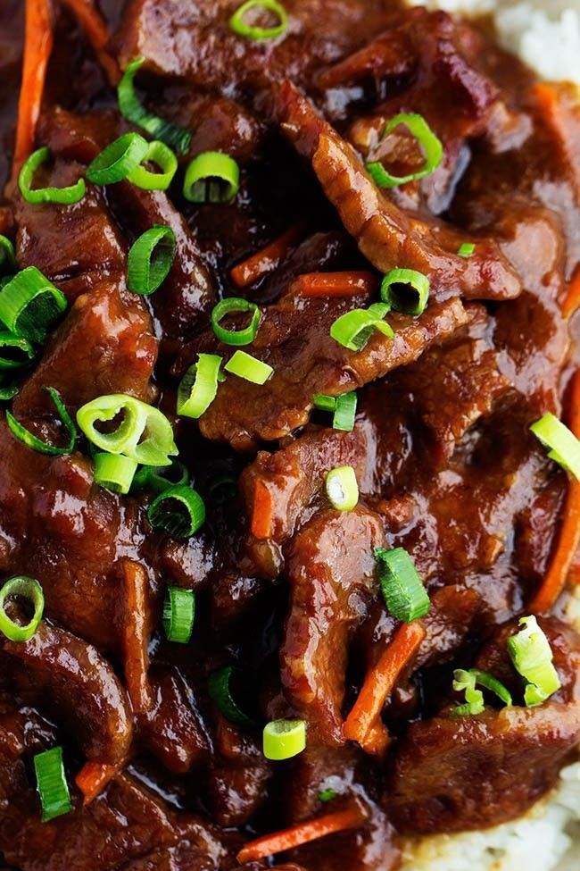 Slow Cooker Mongolian Beef   Print Prep time 10 mins Cook time 4 hours Total time 4 hours 10 mins   Beef that slow cooks to tender melt in your mouth perfection. This takes minutes to throw into the crockpot and has such amazing flavor! One of the best things that you will make in your slow cooker! Author: Alyssa Serves: 4-6 Ingredients      1 ½ pounds Flank Steak     ¼ cups cornstarch     2 tablespoons Olive Oil     ½ teaspoons mince Garlic, Cloves     ¾ cups Soy Sauce  ...