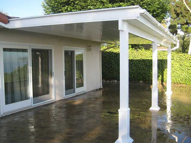 Aluminum Patio Covers Attached To House
