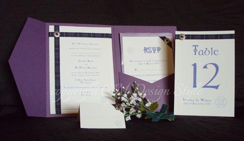 Handmade Scottish Tartan Wedding Invitations and Stationery
