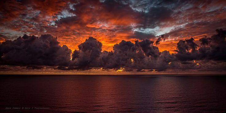 'SkyFire' shot of the coast of Surfers Paradise, Australia.  Adis Zornic Photography