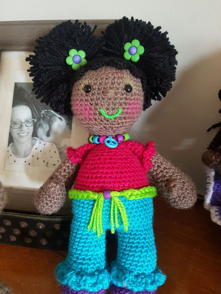 baby doll. #crochet  #afropuffs #browndolly