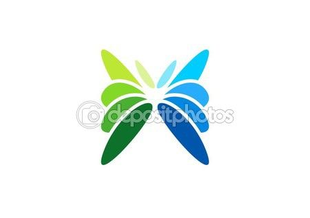 Butterfly, logo, nature, beauty, spa, business symbol icon vector design — Stock Vector © radekgibran #123739290 - http://depositphotos.com?ref=3904401