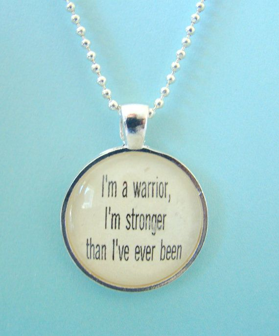 Demi Lovato lyrical quote I'm a Warrior by ExpressioneryPendant, $9.95