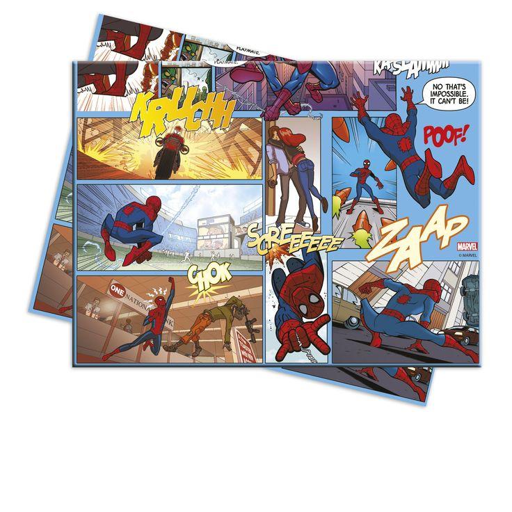Plastiktischdecke Spiderman™: Diess Plastik-Tischdecke steht unter offizieller Spiderman™-Lizenz.Sie ist etwa 120 x 180 cm groß und zeigt eine Abbildung der Comicstrips des berühmten Spinnenmanns™.Eine...
