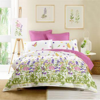 Cottonissima Wild Fields v1 rosebloom - Lenjerie de pat creponata 2 persoane - Lenjerii de pat pline de culoare pentru un dormitor vesel! Inspirate cu DecoStores! #lenjeriidepat #decoratiunidormitor #bedroomdecorations #DecoStores #bedding