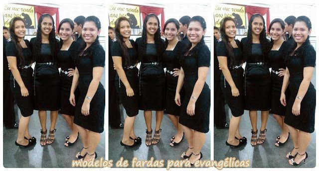 Modelos de fardas para Grupos Evangélicos: Modelo de farda para jovens - vestido preto de Jac...