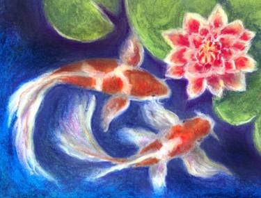 "Saatchi Art Artist Milena Martinez; Painting, ""I love Koi"" #art"