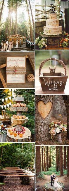 rustic wedding ideas in the woods #weddingideas