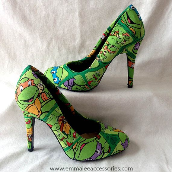 Hey, I found this really awesome Etsy listing at https://www.etsy.com/listing/210077132/teenage-mutant-ninja-turtle-heels