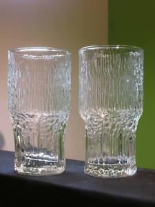 2 Mid Century Iittala Wirkkala Finland Aslak Tall Glass
