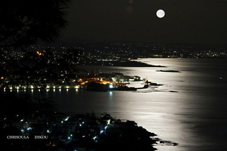 "500px / Photo ""chania moonlight"" by Chriss Zikou"