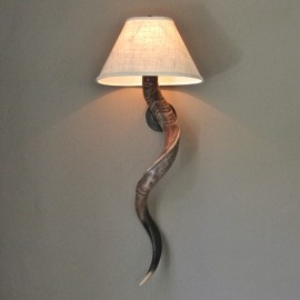 Can't wait for these to arrive at 4Rooms Greenville! Kudu Horn Wall Sconce