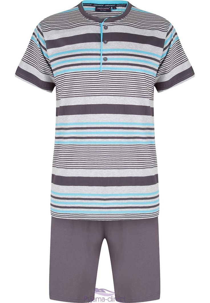 Relax in style in this multi-striped shortama from Pastunette for Men