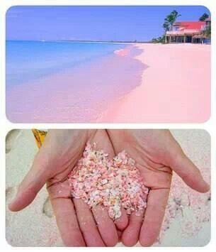 Pink sand beaches- Bahamas