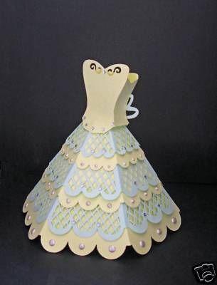 paper dress template | Every Princess s Dream 3D Dress Template
