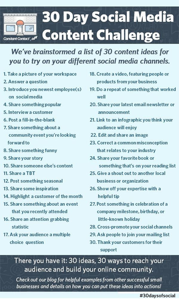 30 Spectacular Ideas for Social Media Content Your Followers Will Love