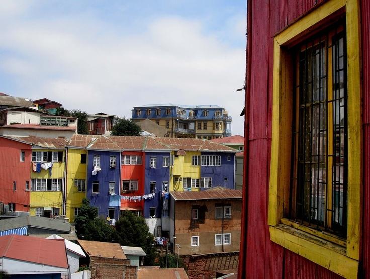 "Cerro Bellavista, We lived right behind the yellow building in the distance ""El Gato Tuerto"""