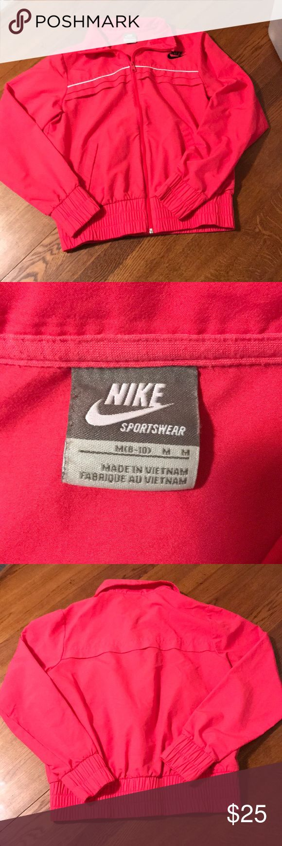 Vintage Nike coat size medium Nice gently worn jacket.  In very good condition.  Size medium. Looking for a new home.  This was a find in my moms closet. Nike Jackets & Coats