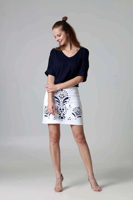4eed78cabb24 Mini sukňa vyšívaná biela   ZuzanaZachar