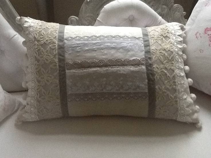 Cushion from vintage lace