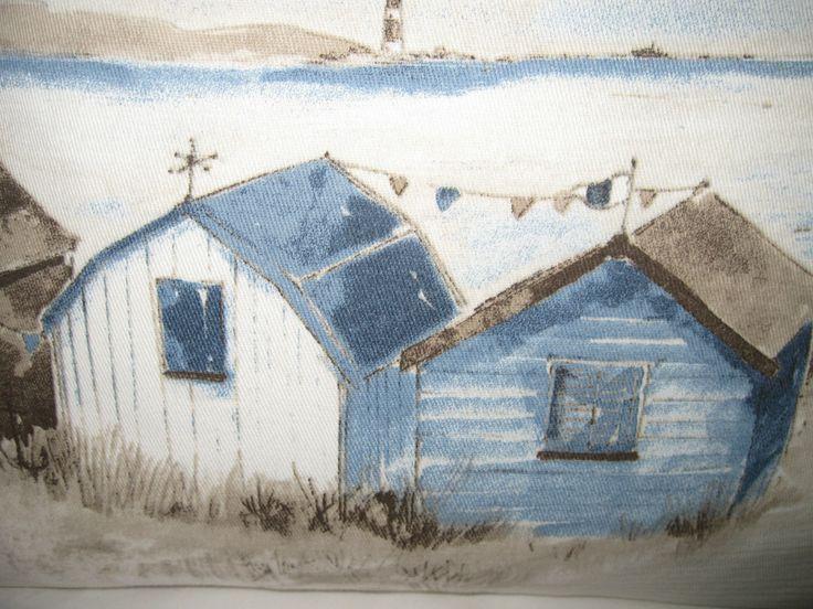 Details About Beach Hut Cushion Cover Nautical Seaside 18