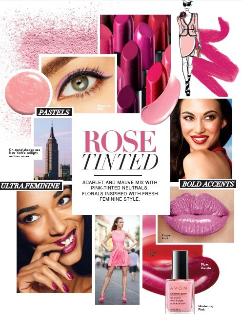 Scarlet and mauve mix with pink-tinted neutrals. Florals inspire with fresh feminine style #DareToBeBold #AvonRep