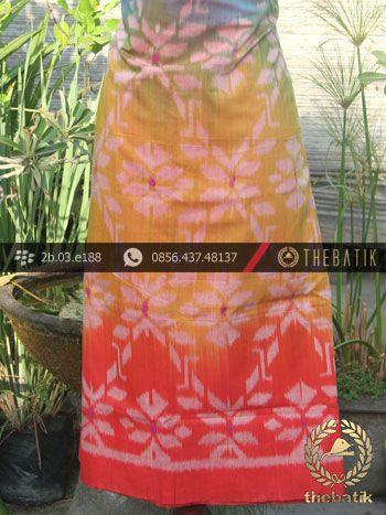Kain Tenun Indonesia Warna Pelangi | Rainbow Ikat http://thebatik.co.id/kain-batik-bahan/
