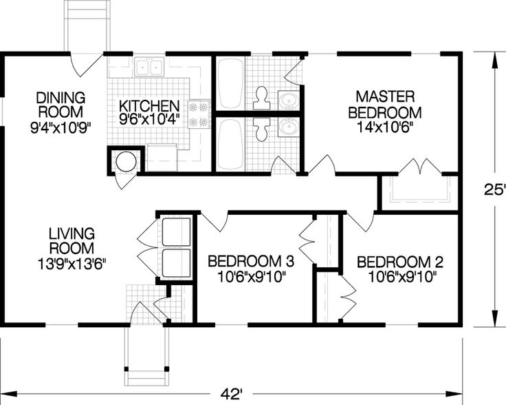 The Danville Is A 1000 Sq Ft House Plan With Spacious Living Room Washer Dryer Area And Kitchen Surprising Amount Of Counterspace Storage