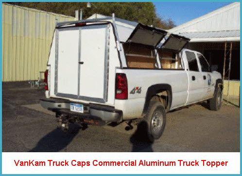 vankam truck caps commercial aluminum truck cap  double rear cargo doors nomadery truck