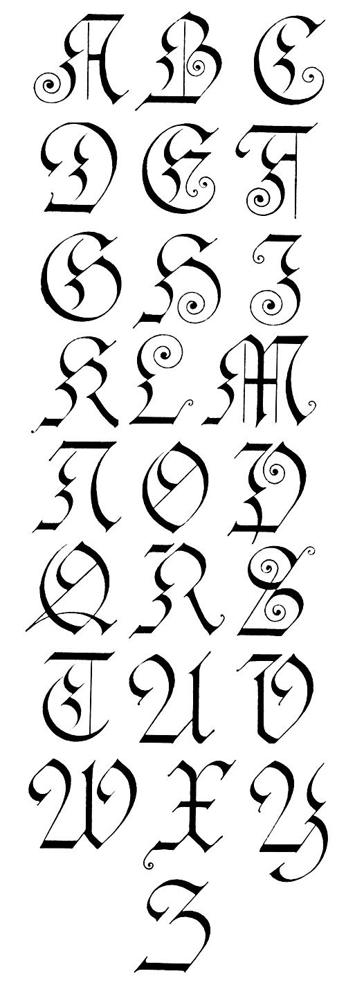 @Shelby Mosel     Gothic Lettering :: German Gothic - Capitals
