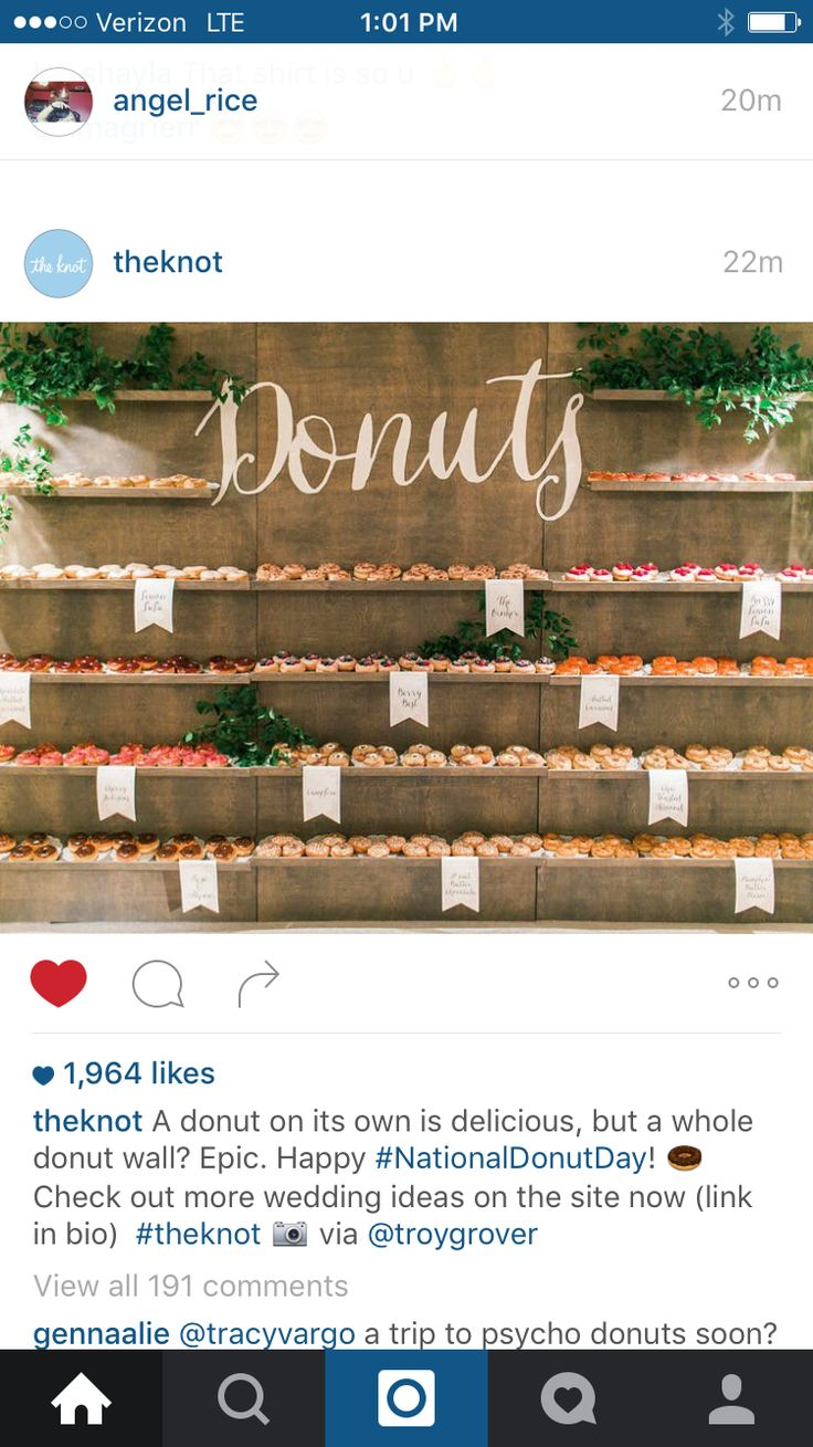 Donut bar for a wedding