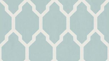 Tessella Aqua wallpaper by Farrow & Ball