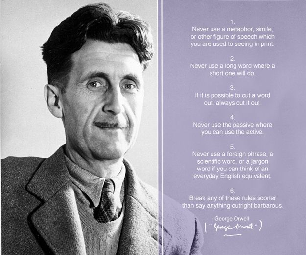 George Orwell   30 Indispensable Writing Tips From Famous Authors