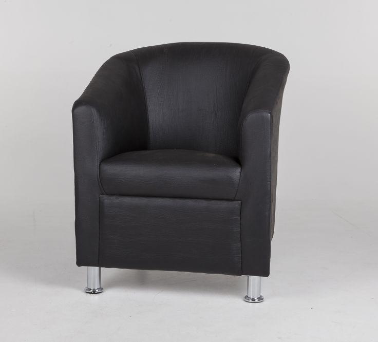 Black tub chair