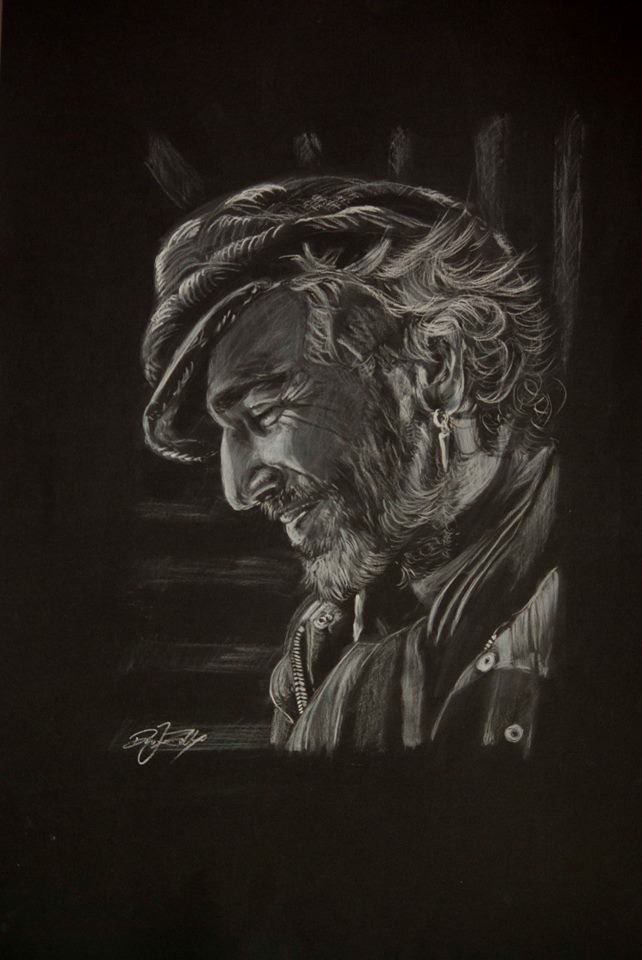 Daniel Day-Lewis portrait pencil drawing