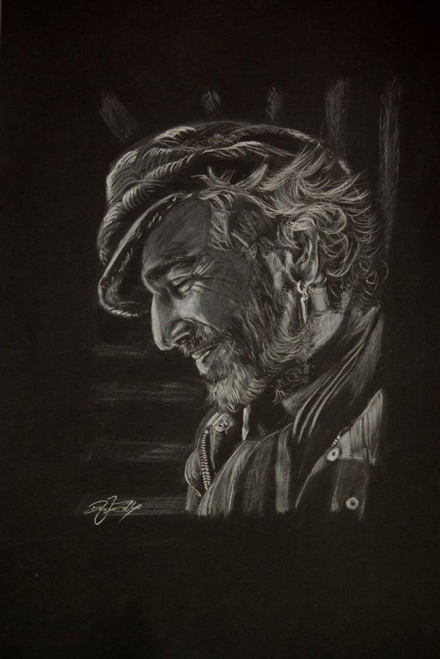 Daniel Day-Lewis portrait pencil drawing