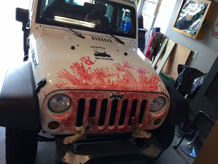 zombie jeep tire cover | ... looks great. The Zombie Hunter now needs a winch to finish the look