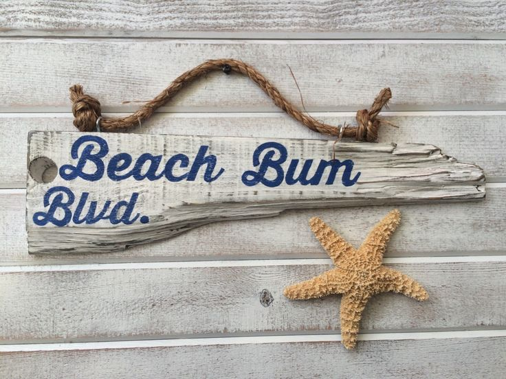 A personal favorite from my Etsy shop https://www.etsy.com/listing/259263932/beach-decor-beach-signs-beach-bum-blvd