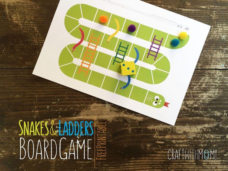 CraftWithMom: Το δικό μας ΕΠΙΤΡΑΠΕΖΙΟ ΠΑΙΧΝΙΔΙ ΦΙΔΑΚΙ! | Snakes & ladders board game
