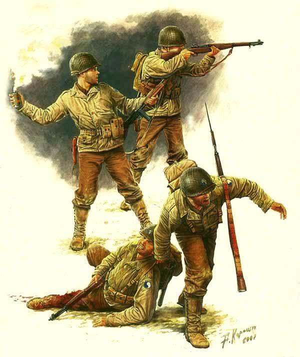 "29th Infantry Division ""Blue and Grey"" in Normandia, giugno 1944 - Andrey Karashchuk. Master Box"