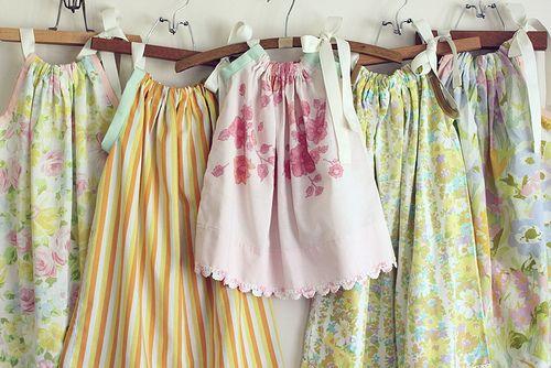 Pillowcase Dress ...adorable and so easy! #DIY