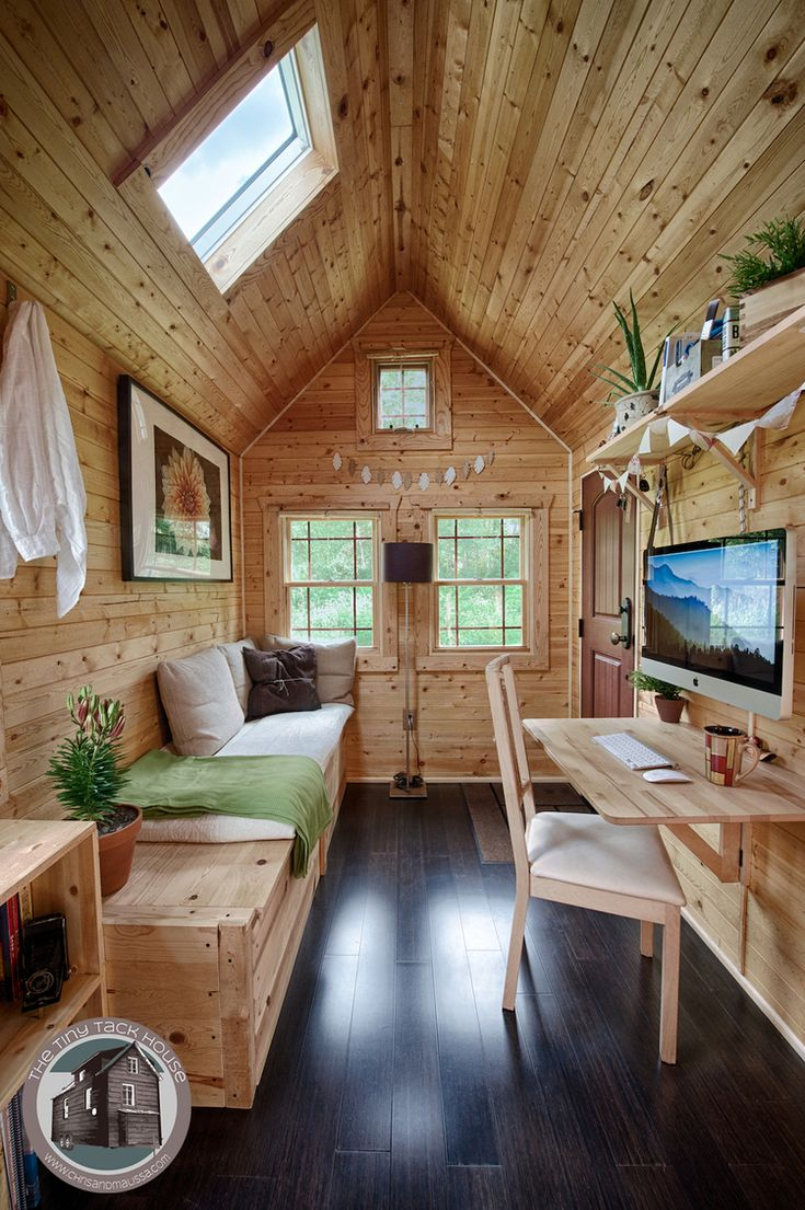 Tiny Tack House 2014 Tiny house interior Tiny house cabin