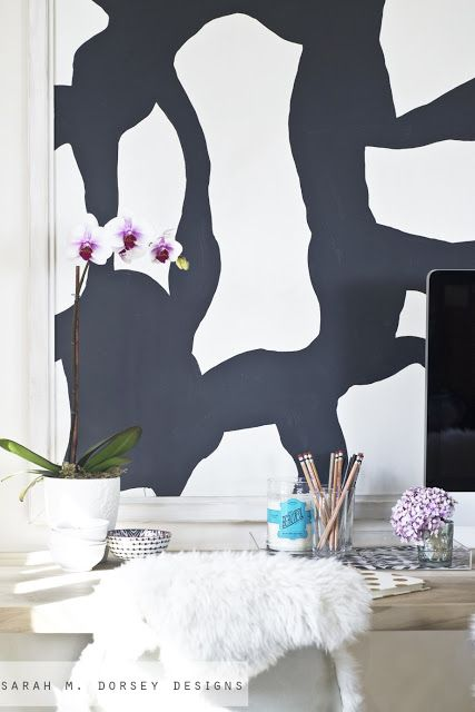 sarah m. dorsey designs: Large Black and White Abstract Art for the Office